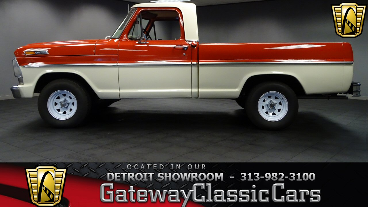 1968 Ford F100 10000 Miles Two Tone Red Over White Pickup 408cid 3 1955 Pick Up For Sale Speed Autom