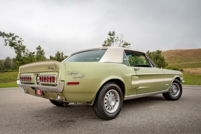 1968 Green Ford Mustang -- with Green interior