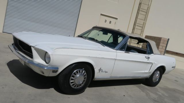 1968 Ford Mustang CONVERTIBLE 289 C CODE P/S! PWR DISC! POWER TOP!