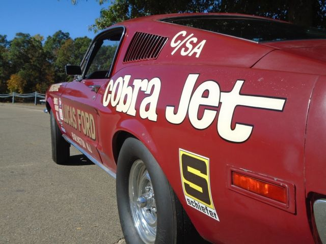 1968 ford mustang fastback 428 cobra jet cstock auto vintage jr stock drag car