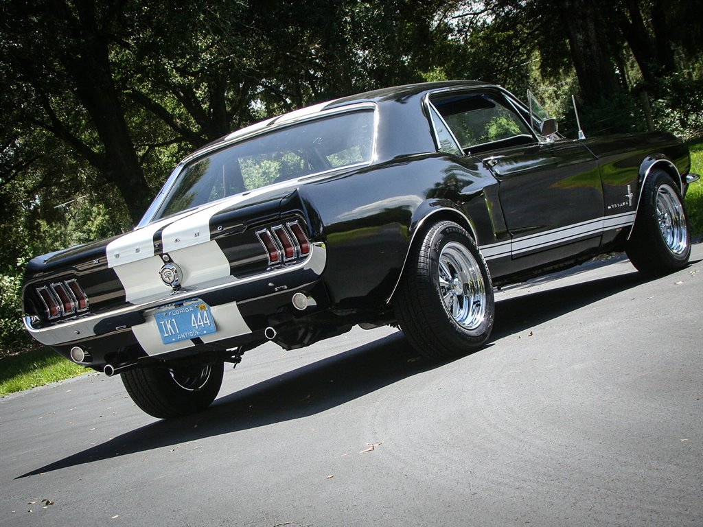 1968 Black Ford Mustang GT Tribute Coupe with Black interior