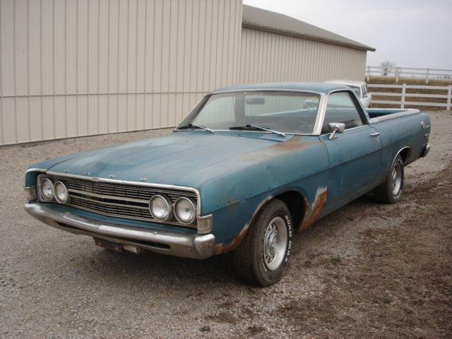 1968 ford ranchero 500 s code factory 390 v 8