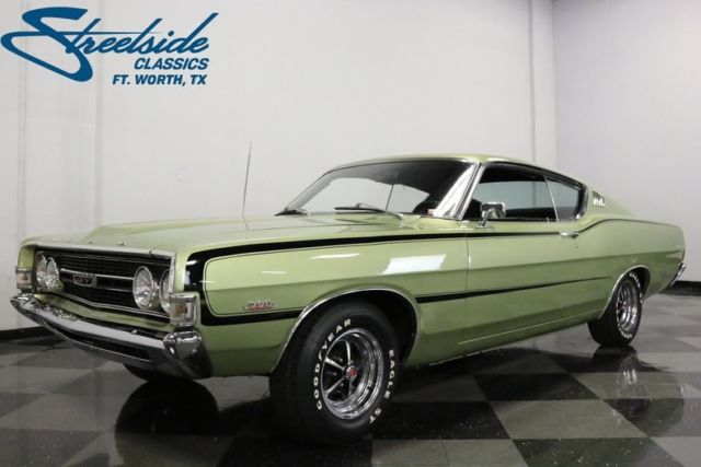 1968 Ford Torino GT 77462 Miles Lime Gold Coupe 390 V8 4