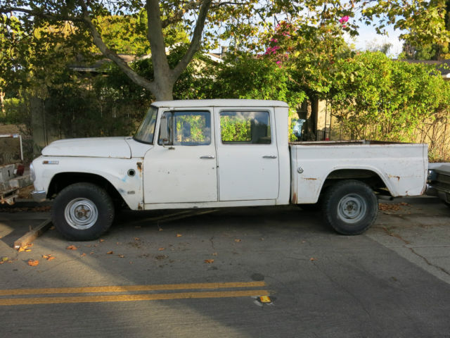Travelette For Sale >> 1968 IH Travelette International Harvester rare crew cab short bed 4x4 project for sale: photos ...