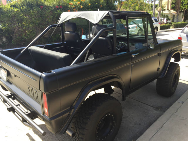 1968 Matte Black Ford Bronco Clean Title Really Fun Truck