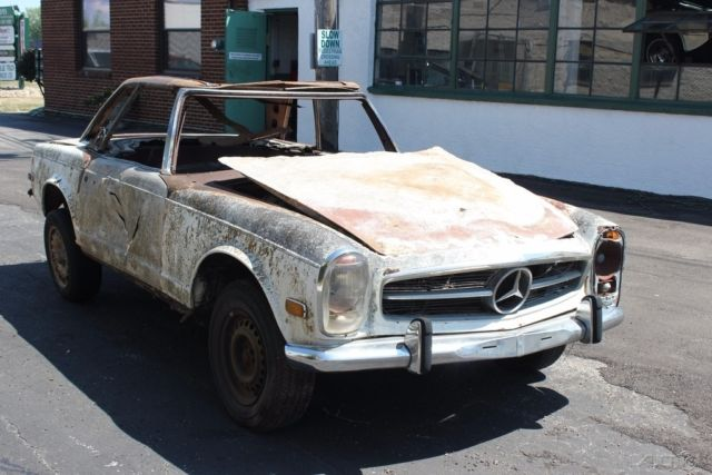 1968 mercedes 280sl two tops for restoration or parts for for Mercedes benz 280sl parts