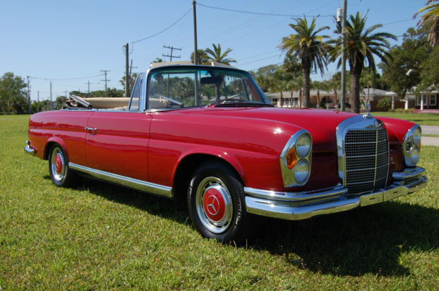 1968 mercedes benz 280se cabriolet coupe converted with