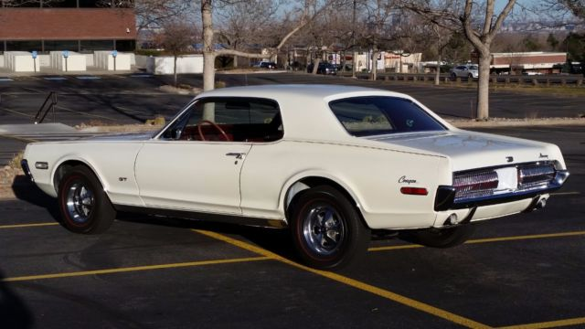 1968 White Mercury G80 GT Coupe with Maroon interior