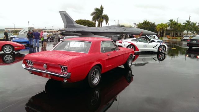 1968 Red Ford Mustang Coupe with Black interior