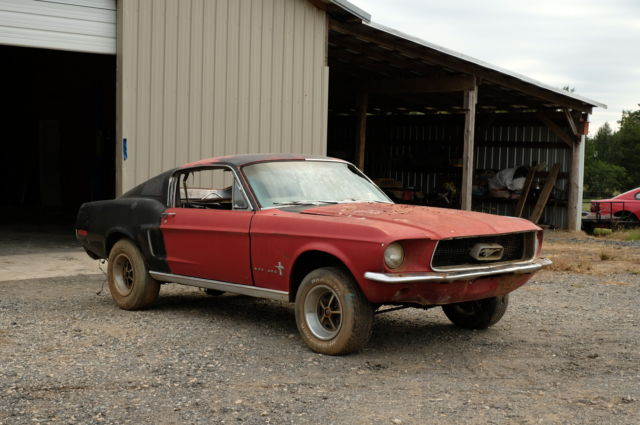 1968 Mustang Fastback GT Scode 4spd Project for sale photos