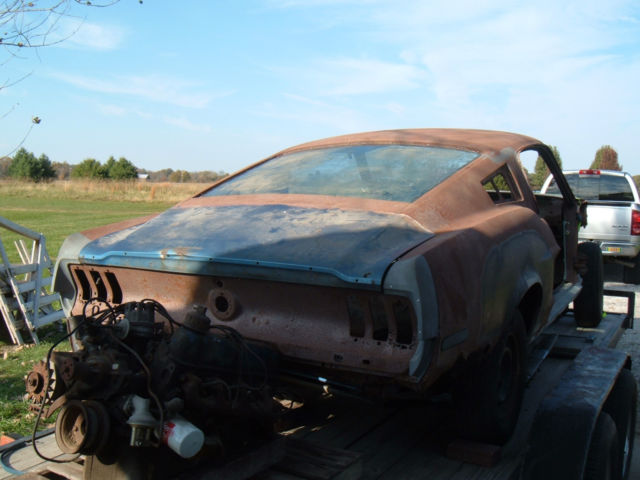 1968 Mustang Fastback Rusty Project for sale: photos