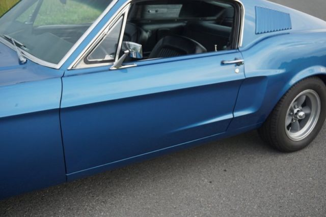 1968 Blue Ford Mustang S-Code GT Other with Black interior