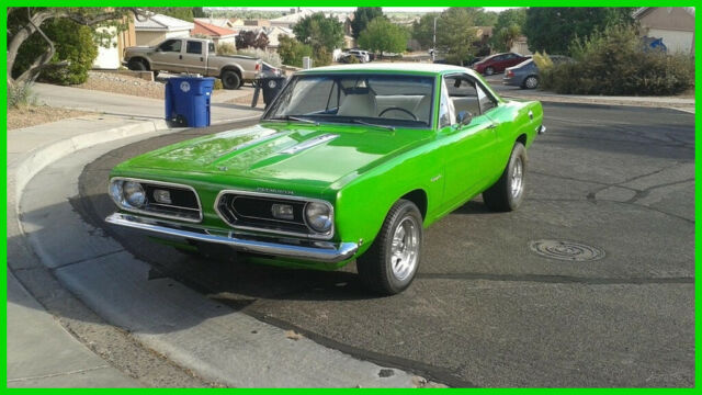 1968 Plymouth Barracuda Notchback with ONLY 500 Rebuild Miles