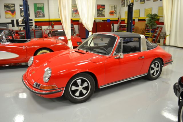 1968 Porsche 911L  49626 Miles Red Targa Flat 6 5 Speed