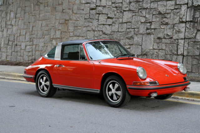 1968 porsche 911s targa restored tangerine numbers. Black Bedroom Furniture Sets. Home Design Ideas