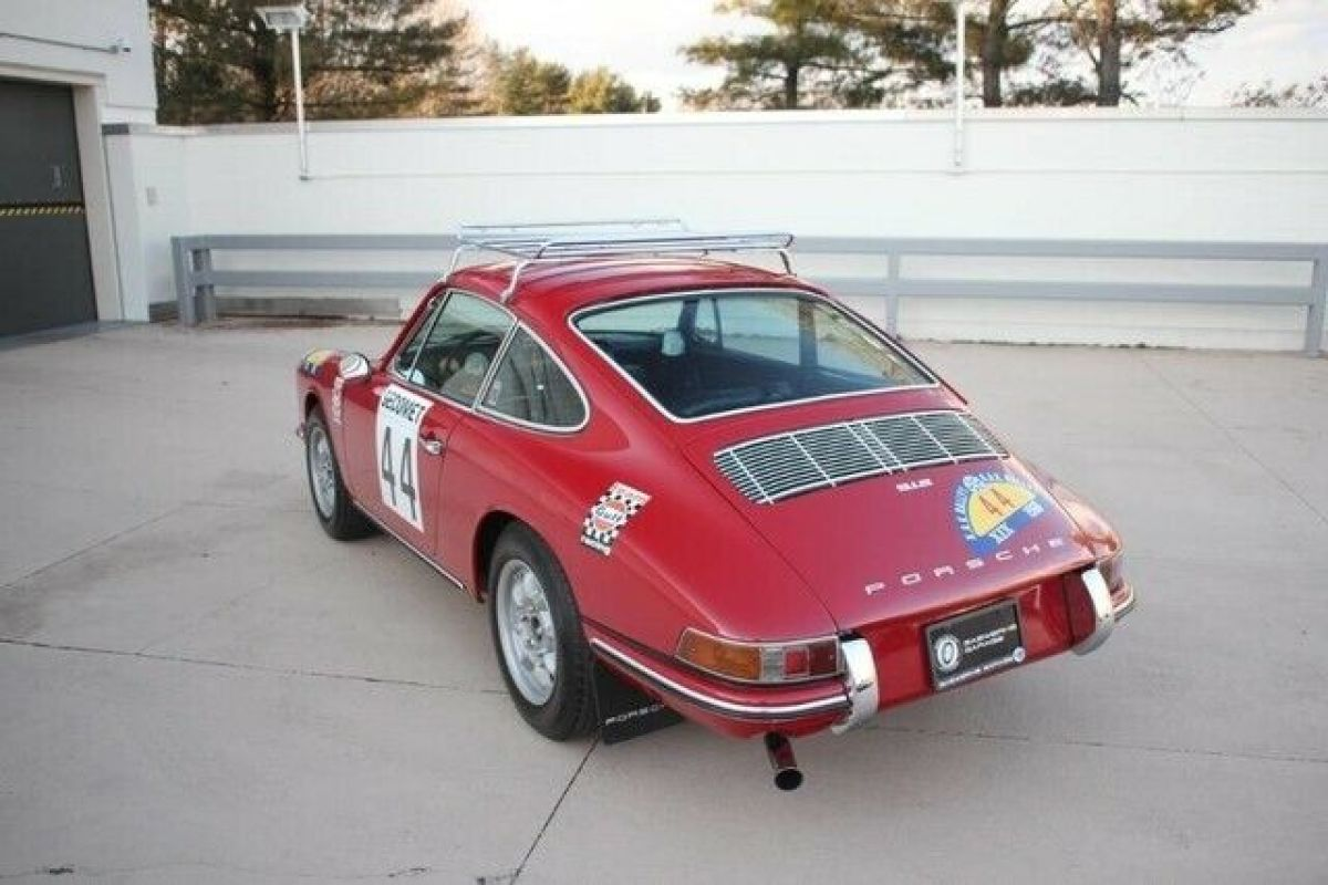 1968 Red Porsche 912 Swedish Rally Coupe Coupe with Black interior