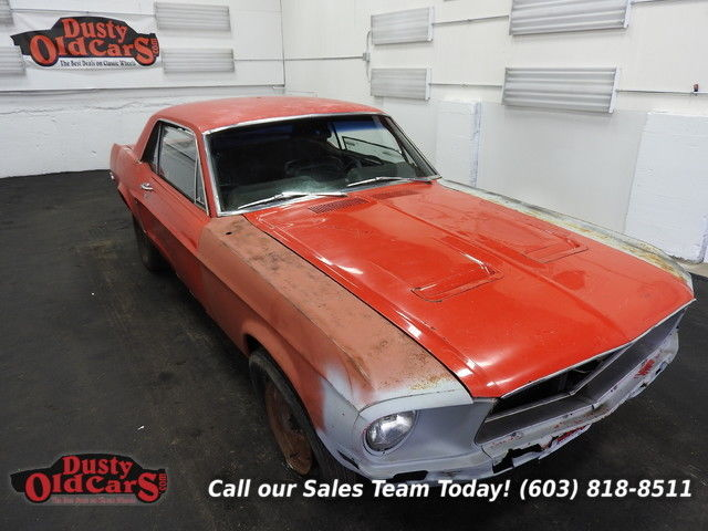 1968 Ford Mustang Project Car Runs Drives 200I6 3 spd man