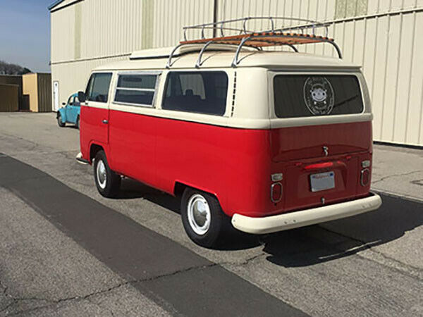 1968 Red/Creme Volkswagen Bus/Vanagon Van Camper with Black/Gray interior
