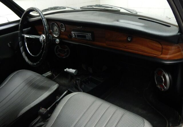 1968 Black Volkswagen Karmann Ghia Coupe with Black interior