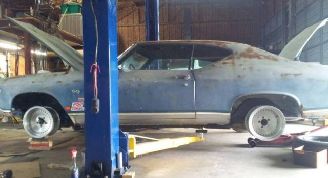 1969 big block Chevelle SS rust bucket project for sale