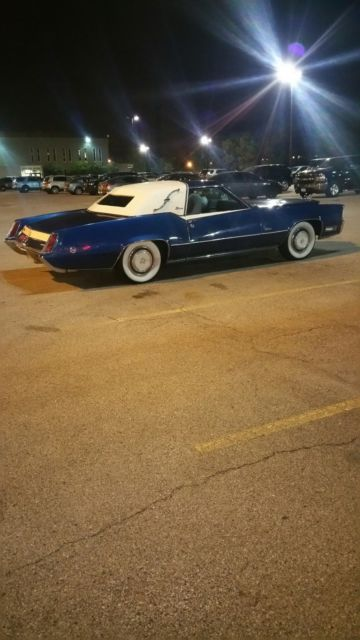 1969 Blue Cadillac Eldorado Coupe with Blue interior