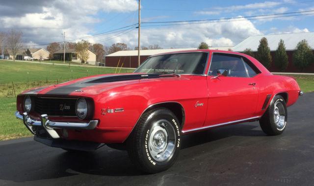 1969 Camaro Z28 X33 Code Red Black Z Stripes