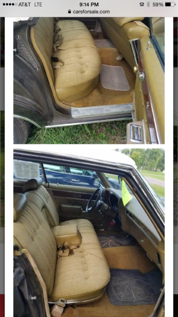 1969 Brown Chevrolet Caprice Sedan with Gold interior