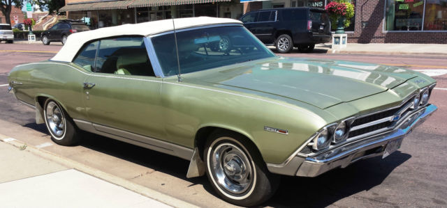 1969 Chevelle Malibu Convertible Original Color Green S Matching Car 350 A C