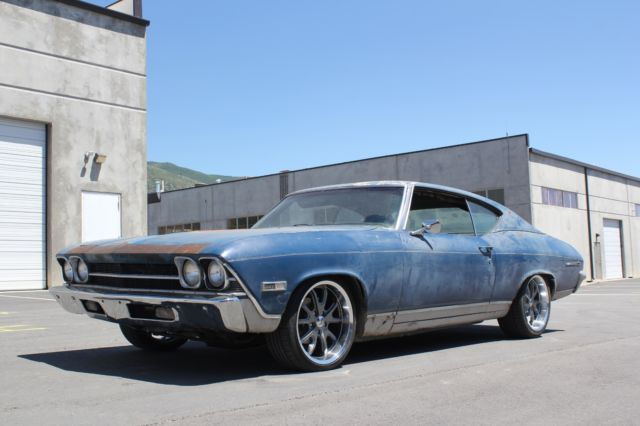 1969 Chevelle Road Kill Pro Touring Lowered 396 Big Block Bench seat Bad Boy!
