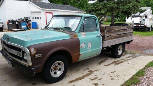 1969 Chevrolet C10 Custom Farm Truck Flatbed For Sale