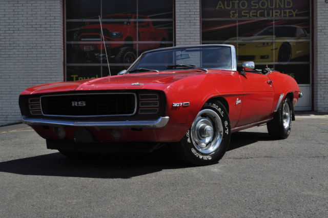 1969 Chevrolet Camaro Rally Sport Convertible X11 Must Sell! No Reserve!