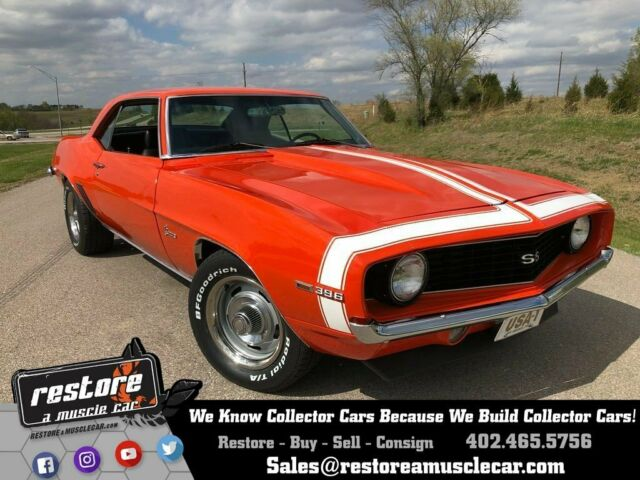 1969 Chevrolet Camaro SS 396 Tribute - Auto, Hugger Orange, 46k miles
