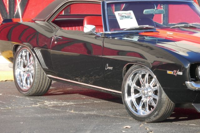 1969 Black Chevrolet Camaro Coupe with Red interior