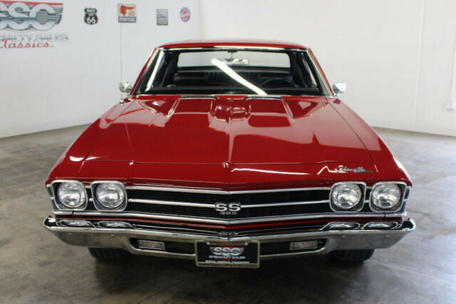 1969 Red Chevrolet Chevelle Super Sport Sport Coupe with Black interior