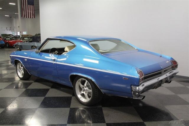1969 Blue Chevrolet Chevelle with Tan interior