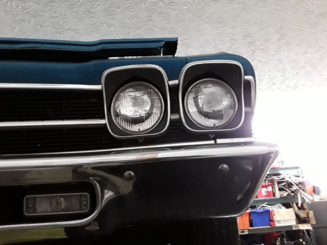 1969 Blue Chevrolet Chevelle with Black interior