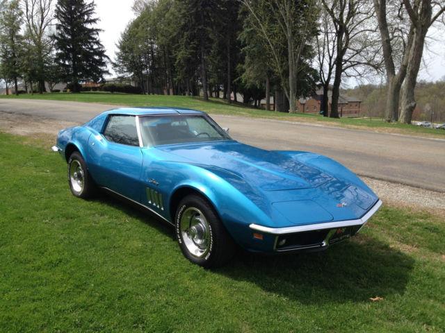 1969 chevrolet corvette stingray lemans blue base in great shape - Corvette Stingray 1969 White