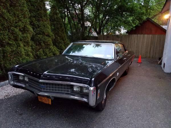 1969 Chevrolet Impala 4 Door Hardtop Black W Blue Leather