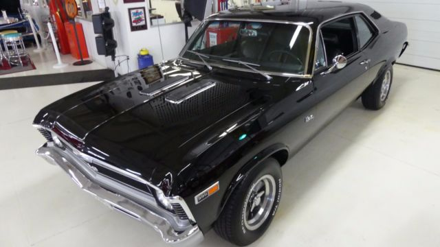 1969 Blue Chevrolet Nova SS Tribute 2 Door Hard Top with Black interior