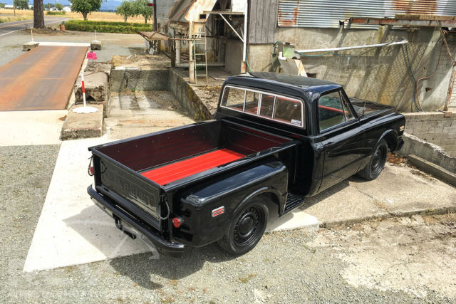65 Chevy Impala 1969 Chevy C10 Shortbed SWB Lowered Blacked out Stepside ...
