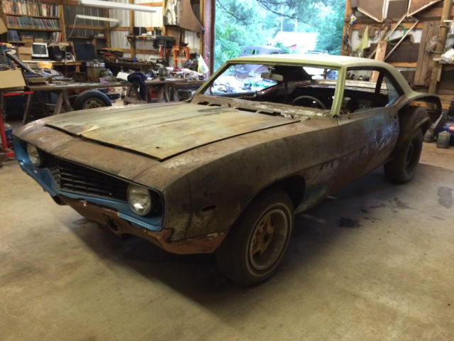 1969 chevy camaro hardtop project car for sale photos technical specifications description. Black Bedroom Furniture Sets. Home Design Ideas