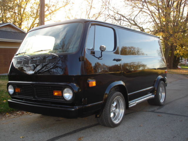 1969 Chevrolet G20 Van Custom built wheel and side pipe flares
