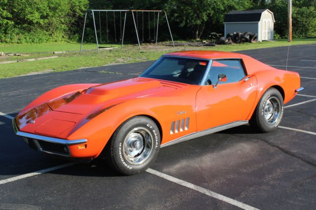 1969 Corvette Monaco Orange 350 350hp T Top For Sale