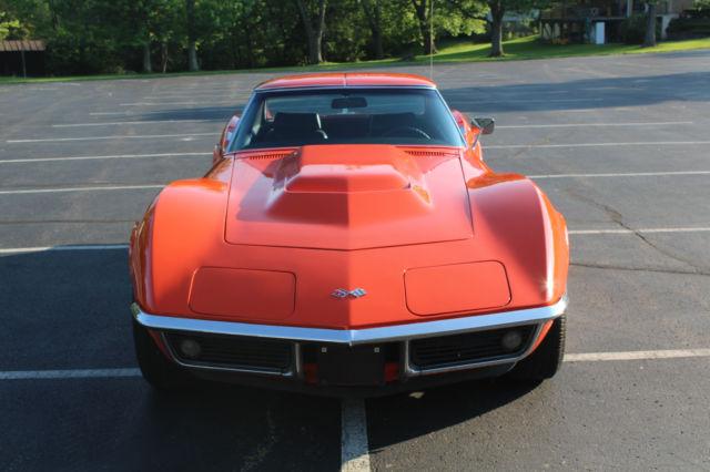 1969 Corvette Monaco Orange 350 350hp T Top For Sale