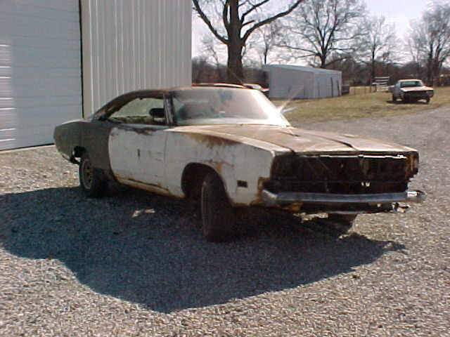 1969 DODGE CHARGER R T CLONEMOPAR HEMI PROJECT CAR BARN FIND