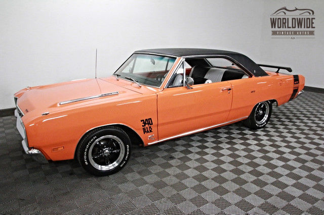 1969 Dodge Dart 340 V8! 6 PACK. DISC BRAKES!  FULLY RESTORED