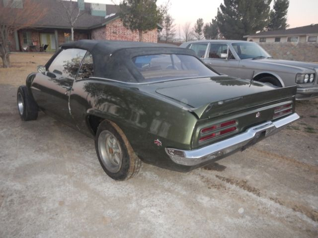 1967 Pontiac Firebird Convertible Project Car For Sale: 1969 FIREBIRD 400 CONVERTIBLE WRECKED FRONTEND PROJECT CAR