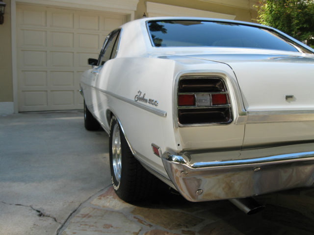 1969 White Ford Fairlane Fastback U/K with Red interior