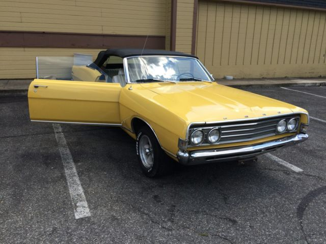 1969 Yellow Ford Fairlane SMALL BLOCK Coupe with White interior