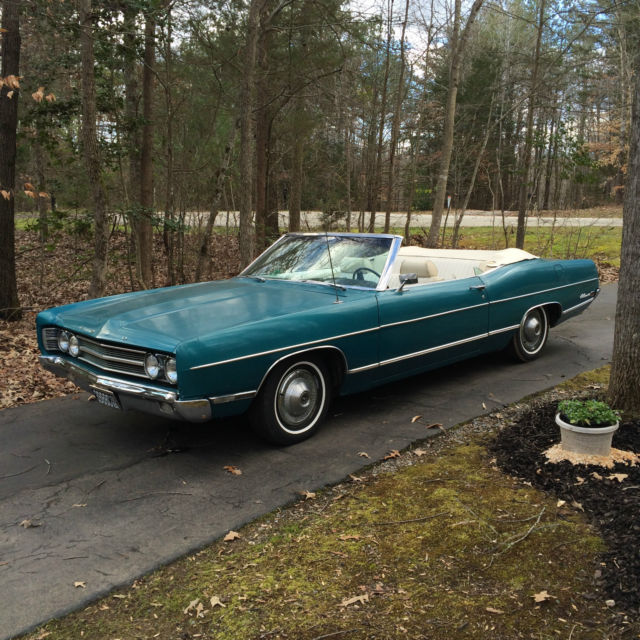 1969 Ford Galaxie 500 Convertible New White Top 84 000 Orig Miles